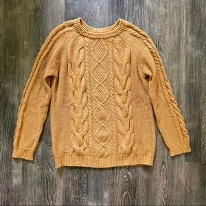 Butterscotch cable knit sweater